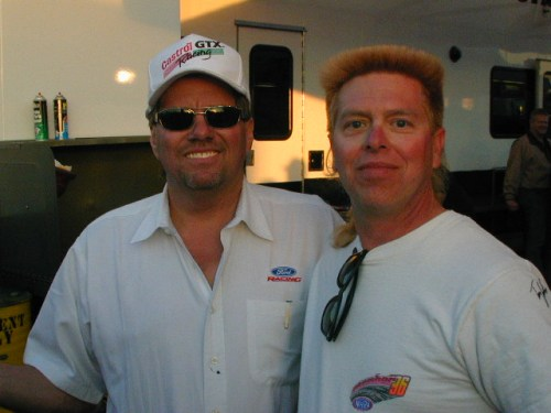 John Force and me